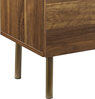 GOOD & GRACIOUS Sideboard Cabinet, Mid Century Modern Console Storage Buffet Credenza Cabinet, Faux Marble Top with 4 Dra
