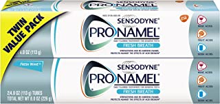 Sensodyne Pronamel Fresh Breath Enamel Toothpaste for Sensitive Teeth, to Reharden and Strengthen Enamel, Fresh Wave - 4 Ounces (Pack of 2)
