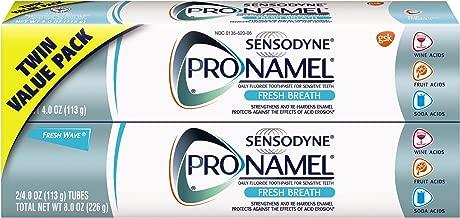 Sensodyne Pronamel Toothpaste for Tooth Enamel Strengthening, Fresh Breath, 4 Ounce (Twin Pack)