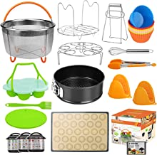 Upgraded 28pcs Accessories for Instant Pot Compatible with Pressure Cooker 5,6,8 Qt, Includes Steamer Basket, Springform Pan, Non-Stick Silicone Egg Bites Mold, Baking Mat,12 Baking Cup(Ebook RECIPES)