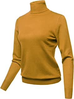Women's Mock Turtle Neck Long Sleeves Knit Top Sweater