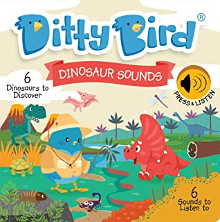 DITTY BIRD Educational Interactive Dinosaur Sounds and Musical Rhyme Book for Babies. Dinosaur Toys for 2 Year olds. Dino ...