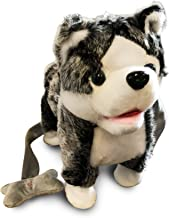 LilPals Live Action Plush Walking Pets - Electronic Leash Remote Control (RC) with Music – Available in Brown Horse, Dalmatian Dog, Pink Husky, Blue Husky Or Grey Husky