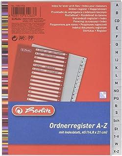 Herlitz 10841906 Intercalaire Gris - 14,8 x 21 cm