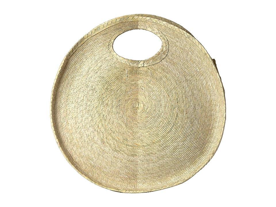 San Diego Hat Company BSB1761 - Round Palm Straw Handbag (Natural) Handbags, Beige