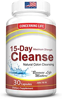 Colon Cleanse Detox for Weight Loss - Natural 15-Day Colon Cleansing Body Detox - Supports Healthy Bowel Movements - Increases Energy and Alleviates Bloating - Probiotic for Constipation Relief