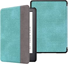Fintie Slimshell Case for All-New Kindle (10th Generation, 2019 Release) - Lightweight Premium PU Leather Cover with Auto Sleep/Wake (NOT Fit Kindle Paperwhite or Kindle 8th Gen), Turquoise/Brown