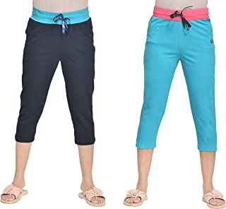 A9- Women Solid Capris - Pack of 2