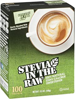Stevia in the Raw Zero Calorie Sweetener, 100 Count, Pack of 2