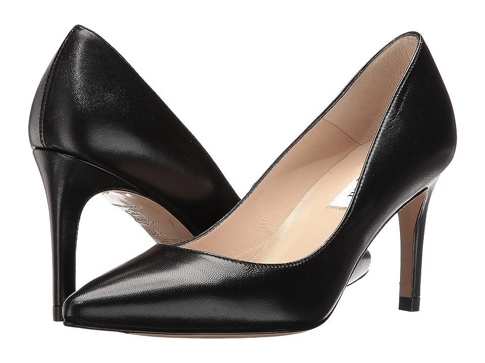 L.K. Bennett Floret (Black Kid Leather) High Heels