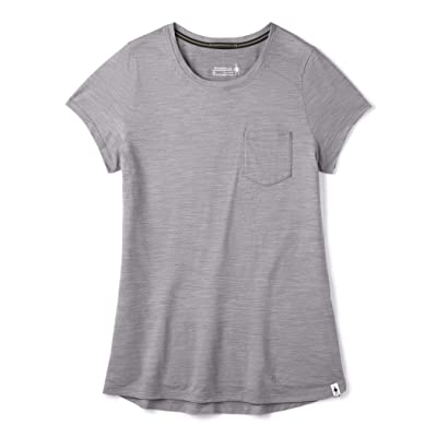 Smartwool Merino Sport 150 Pocket Tee (Light Gray Heather) Women