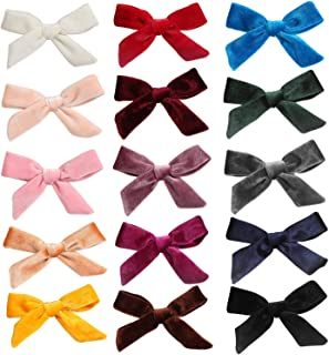 inSowni 15 Pack Velvet Bow Alligator Hair Clips Barrettes Accessories for Baby Girls Toddlers Teens Kids