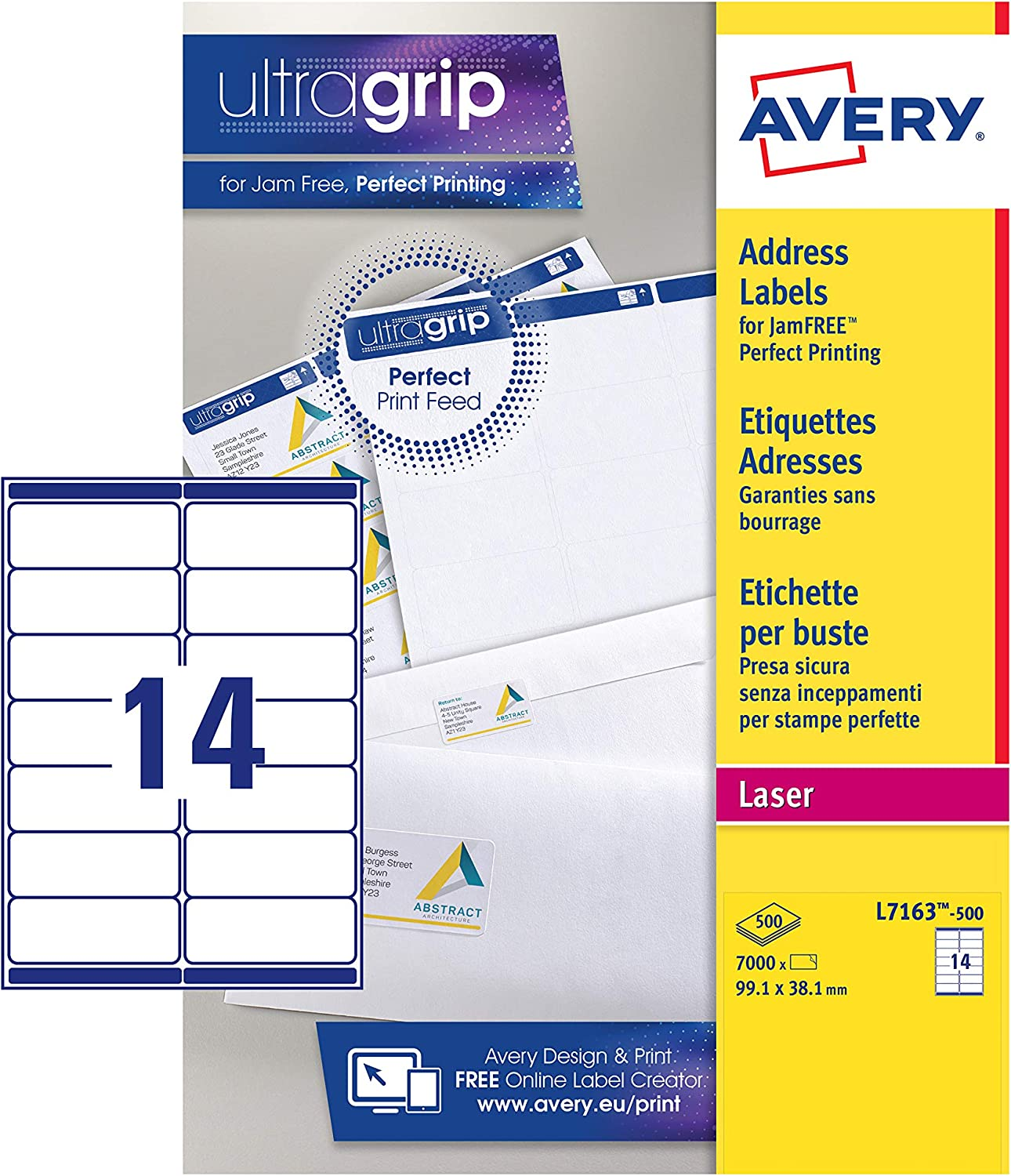 Fort Worth Mall Avery Self Adhesive Address Special sale item Mailing Labels 14 Laser Printers L
