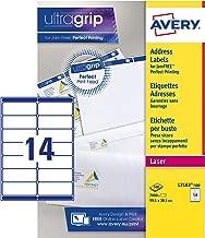 Avery Self Adhesive Address Mailing Labels, Laser Printers, 14 Labels per A4 Sheet, 7000 Labels, UltraGrip (L7163)