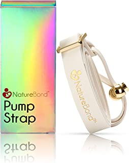 NatureBond Pump Strap Lanyard for Manual Silicone Breast Pump/Breastfeeding/Breastmilk Saver - PU Leather Ivory Color in H...