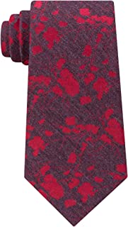 Calvin Klein Red Gray Men's Hot Floral One US Size Neck Tie