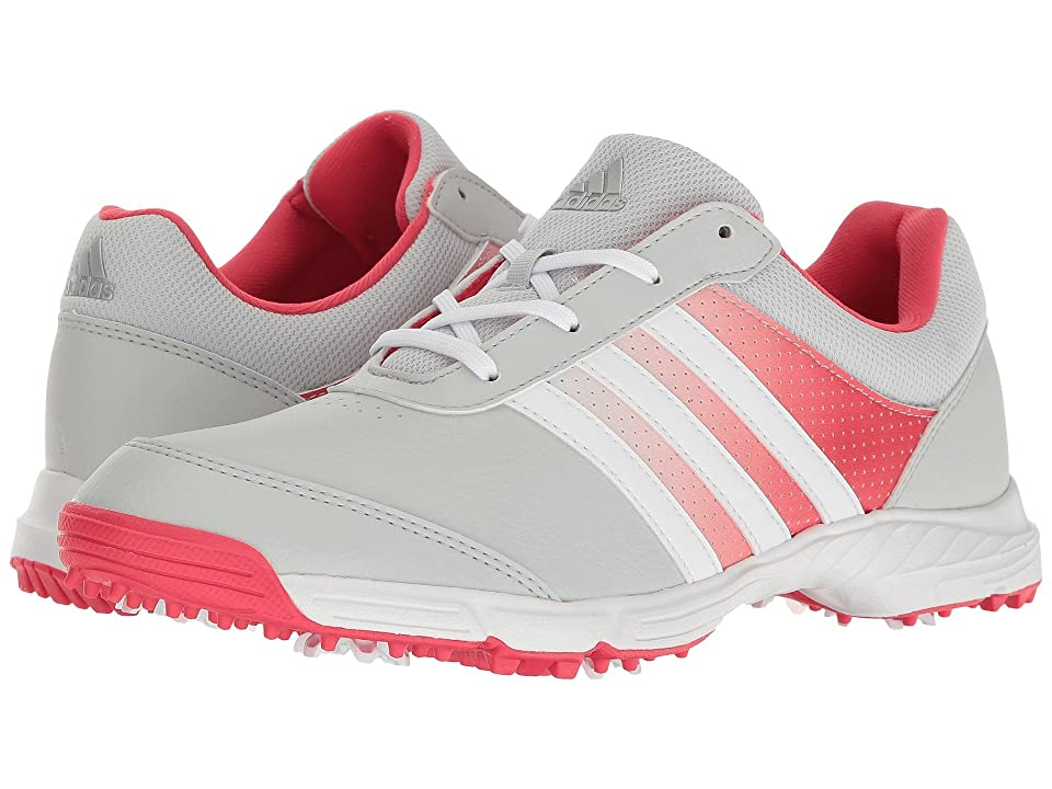 adidas Golf Tech Response (Clear Grey/Ftwr White/Core Pink) Women's Golf Shoes, Gray