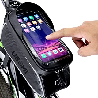 comprar comparacion Bolso Bicicleta Impermeable y con Ventana para Pantalla Táctil, Bolsas de Bicicleta, Bolsa Bici, Bolsa Manillar para Telef...