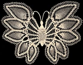Vintage Crochet PATTERN to make - Pineapple Butterfly Doily, Mat, Wall Hanging. NOT a finished item. This is a pattern and/or instructions to make the item only.