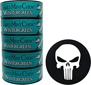 Jake's Mint Chew Wintergreen Pouch 5 Cans with DC Crafts Nation Skin Can Cover - Punisher