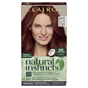 Clairol Natural Instincts Semi-Permanent Hair Dye, 6RR Light Red Hair Color, 1 Count