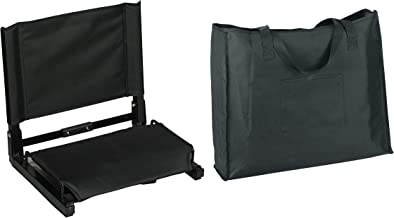 Markwort Stadium Chair with Carrying Bag, Black