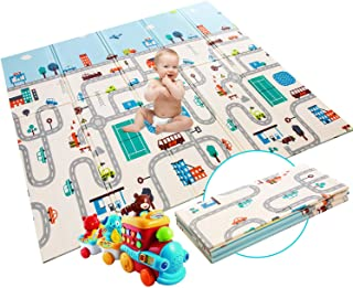 Tapis d'éveil pour bébé - Extra large - Pliable - En mousse non toxique - Imperméable - Pour enfants - En extérieur ou en ...