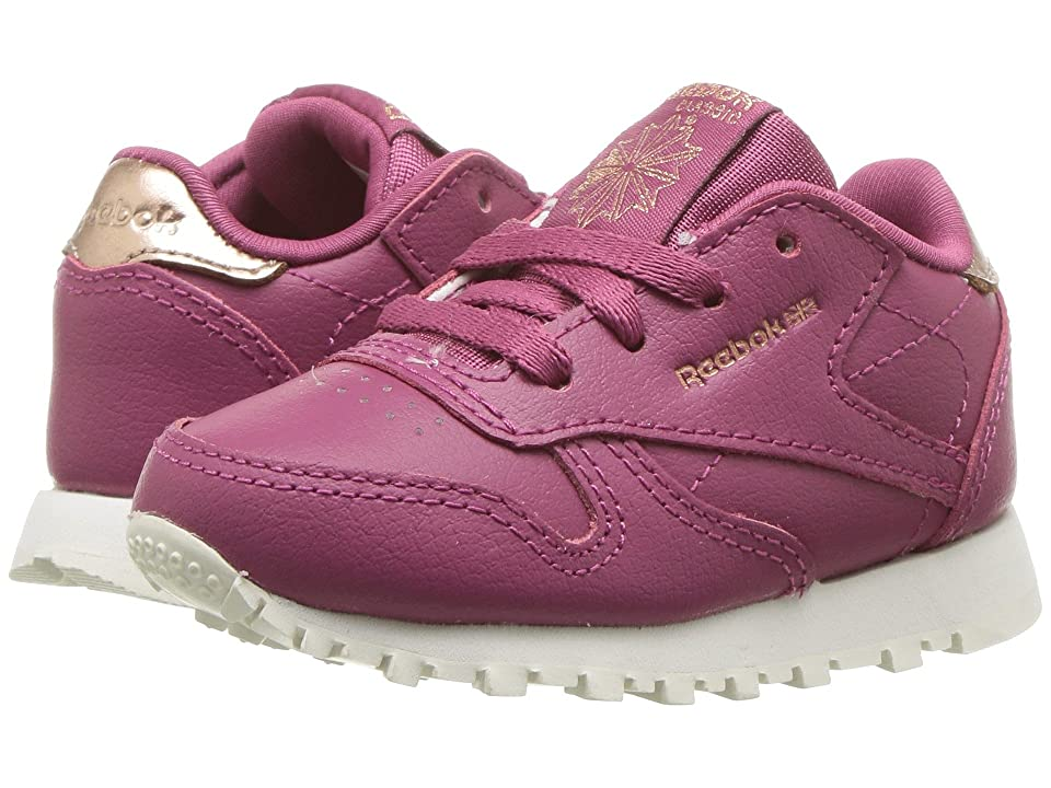 Reebok Kids Classic Leather (Toddler) (Twisted Berry) Girls Shoes