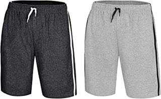 Bonjour® Men's Twin Pack Pyjama Bottoms   Pack of Two Cotton Shorts with Elasticated Waist   Soft, Cosy & Comfy Lounge Sho...