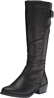 Easy Street Women's Fashion Boot, Black, 9W US