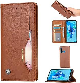 KISME voor Huawei P30 Lite (2020) 256 GB Case, PU Lederen Portemonnee Flip Draadloze Opladen Kickstand Cover [Magnetische ...