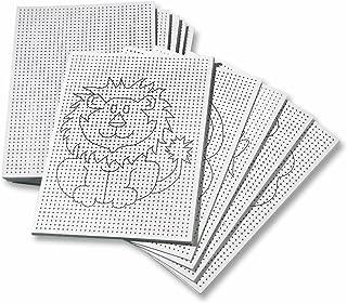 Stickkarton 300g/m², weiß unbedruckt - blanko 17,5x24,5 cm, 40 Blatt