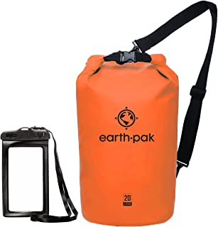 Earth Pak -Waterproof Dry Bag - Roll Top Dry Compression Sack Keeps Gear Dry for Kayaking, Beach, Rafting, Boating, Hiking...
