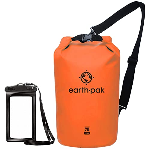 8cc050ba2836a Earth Pak -Waterproof Dry Bag - Roll Top Dry Compression Sack Keeps Gear  Dry for
