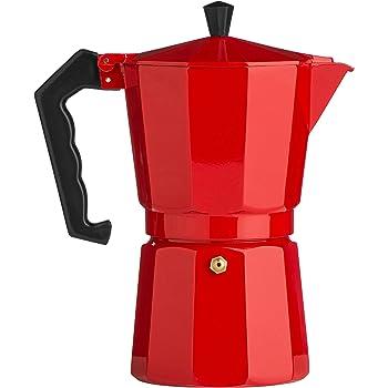 La Cafetiere - Cafetera italiana clásica para 6 tazas, color negro 1,4 kg aprox. rosso: Amazon.es: Hogar