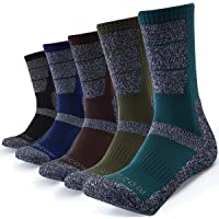 Deals on 5 Pairs KEECOW Hiking Socks