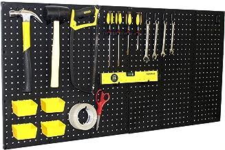 "WallPeg (3) Black Plastic Pegboard Panels – 72"" Wide Garage Tool Pegboard – AM 202"