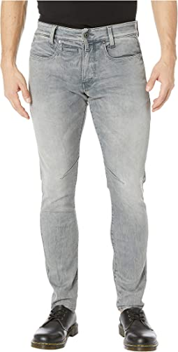 D-Staq Five-Pocket Skinny in Wess Grey Super Stretch Medium Vintage