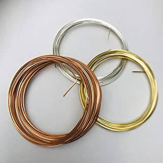 Square Wire 21 Gauge for Jewelry & Craft Silver Gold Copper Anti-Tarnish