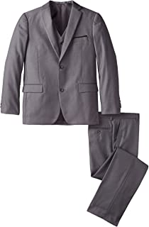AXNY a.x.n.y Boys' Tailored Solid 3 Piece Suit