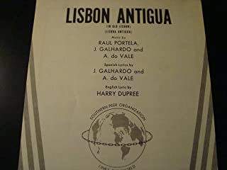 LISBON ANTIGUA / Piano vocal chords / Southern Music Edition