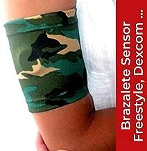 IKOOKI Abbott Freestyle Libre - Dexcom G4 G5 G6 - Guardian Sensor - Omnipod - Brazalete Protector del Sensor De Glucosa - Flexible Cómodo y Reutilizable - Color Camuflaje – Talla 26