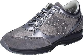 Geox Sneaker Bambina Pelle Scamosciata Grigio