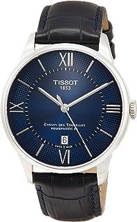 Tissot mens Chemin des Tourelles Stainless Steel Dress Watch Blue T0994071604800