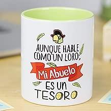 La Mente es Maravillosa - Taza frase y dibujo divertido (Aunque hable como un loro, Mi Abuelo es un tesoro) Regalo para Abuelo
