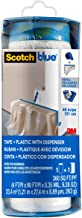 Scotch Painter's Tape ScotchBlue Pre-Taped Painter's Plastic with Dispenser Unfolds to 48 inches by 30 Yards,PTD2093EL-48,...