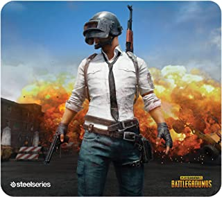 SteelSeries PUBG QcK Gaming Surface - Large Cloth Erangel - Optimized for Gaming Sensors - Maximum Control
