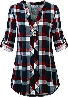 flannel collarless shirt