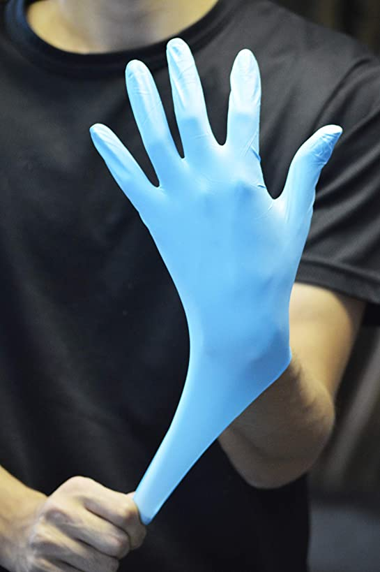 深く七時半定刻川西工業 ニトリル使いきり極薄手袋 粉無 100P ブルー SS #2041