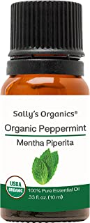 10ml Organic Peppermint Essential Oil - Pure Therapeutic Grade - Works Best for Aromatherapy, Natural Soap, Shampoo, Hair, Lotion, Bath Melts, Body, Mice Repellent, and Air Freshener (Spray)